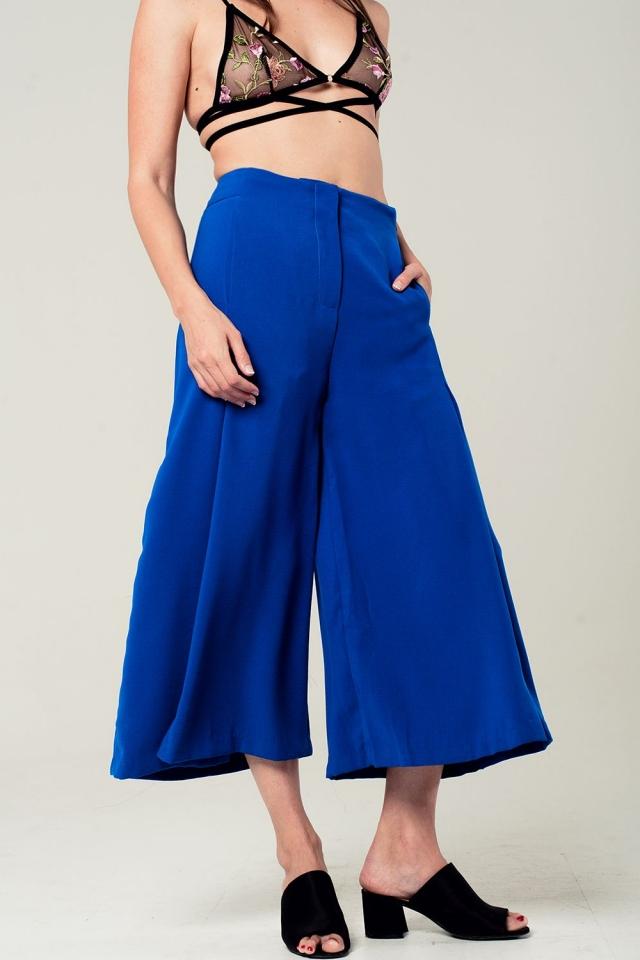 Jupe culotte bleu éléctrique