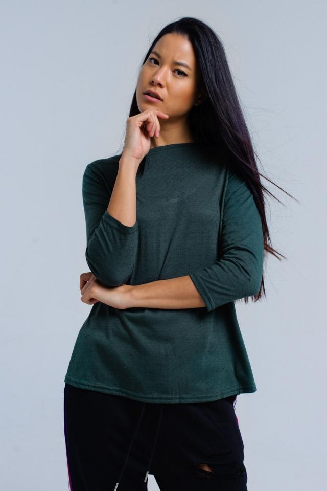 Chemise verte avec sangle élastique