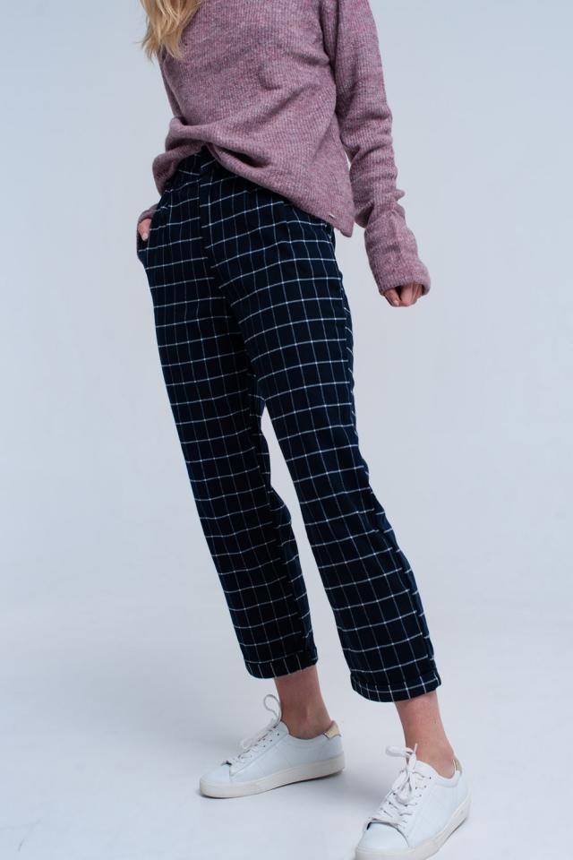 Pantalon en bleu marine
