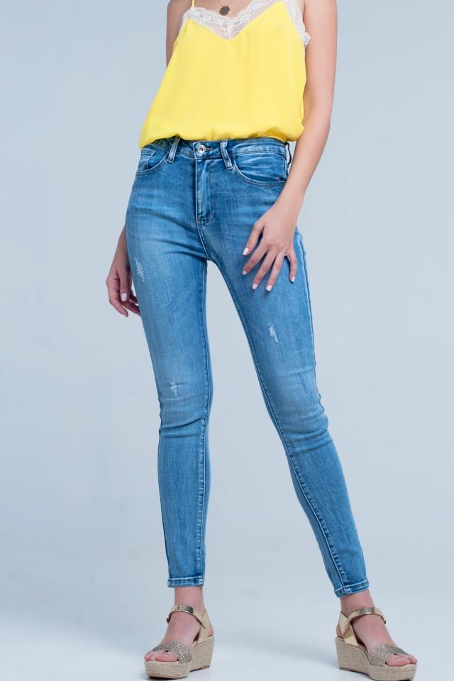 Jean skinny - Délavage moyen