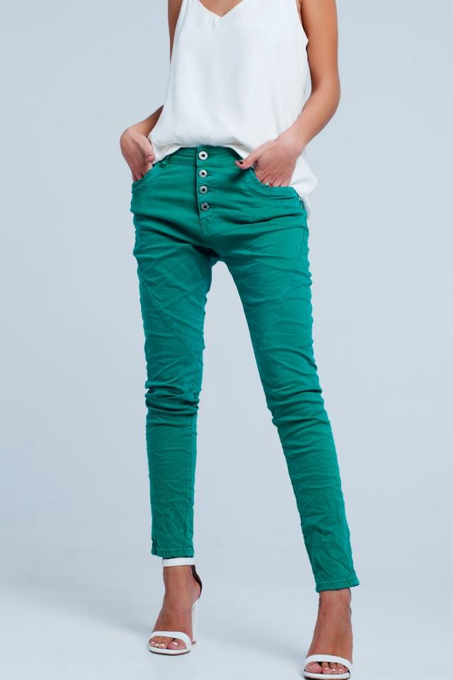 original boyfriend Jean -couleur Vert