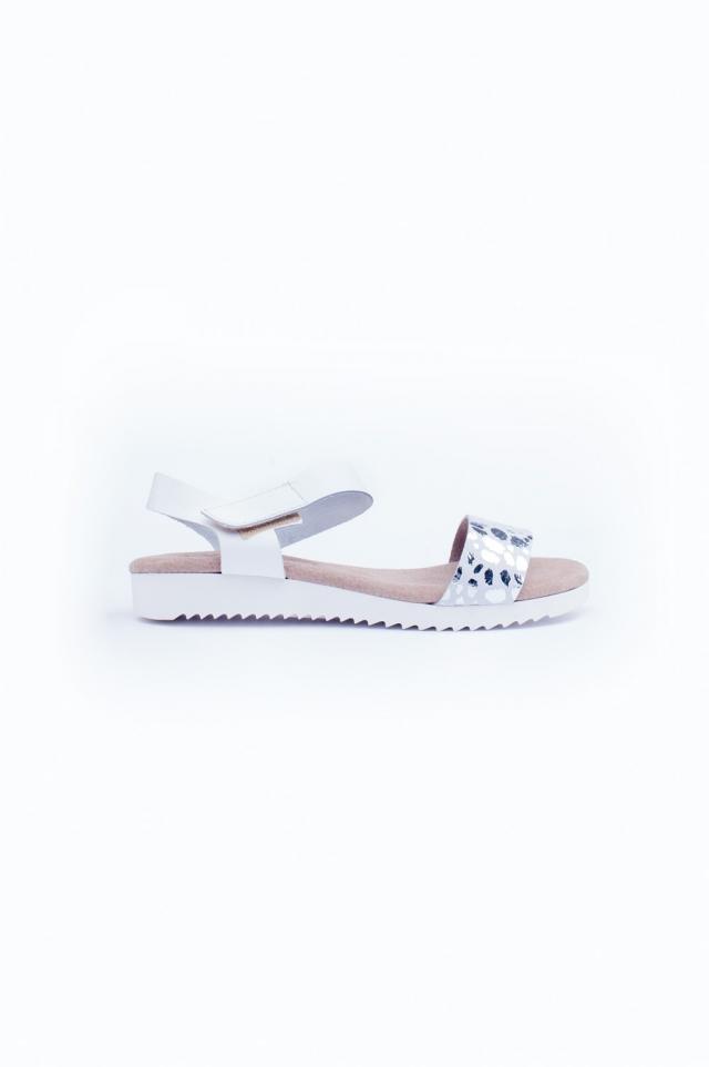 White flat sandals