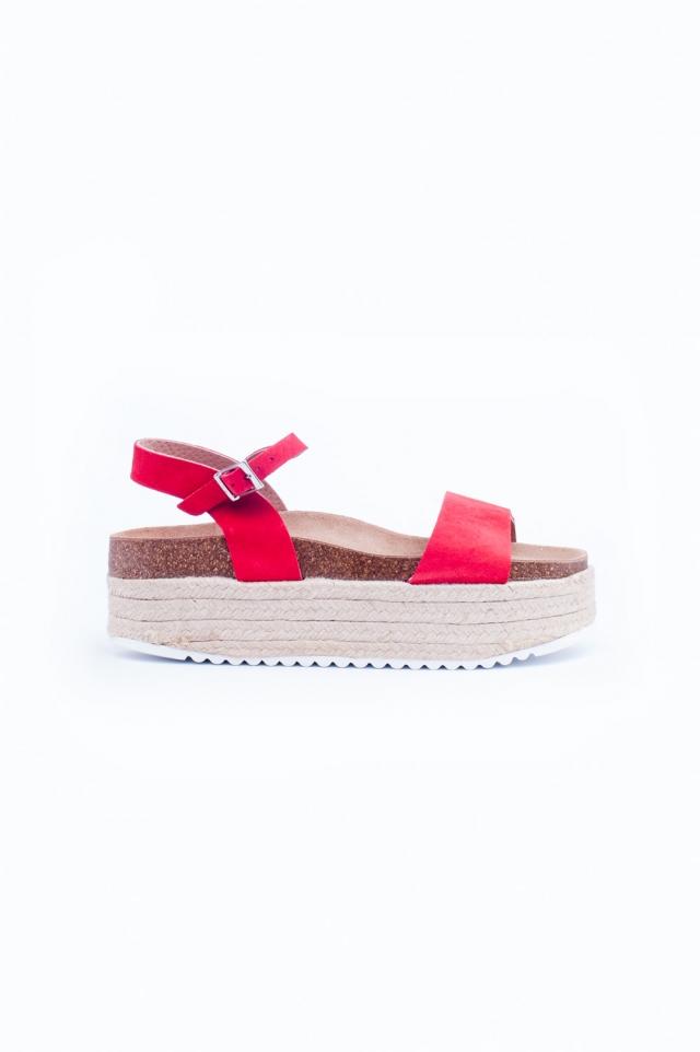 Pink espadrille sandals