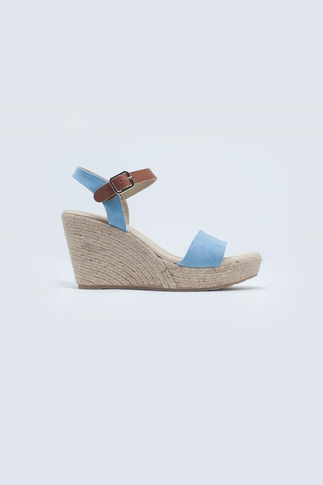 Sandales à boucle style espadrilles Bleu
