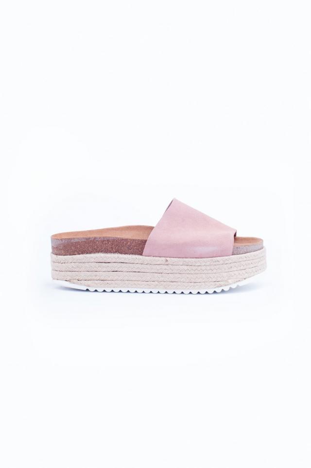 Sandales Rose style espadrilles à semelles plateforme