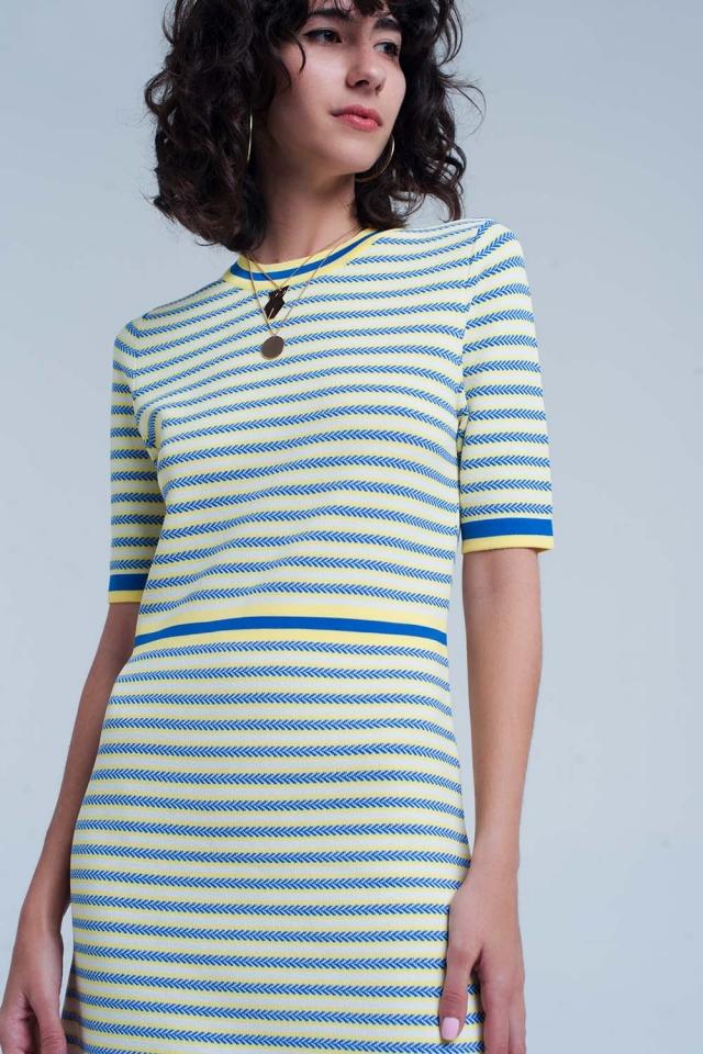 Yellow striped dress