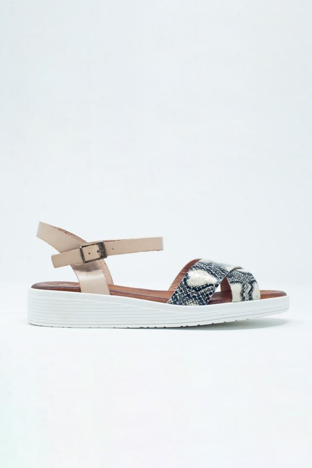 Sandales à talons fermés couleur beige