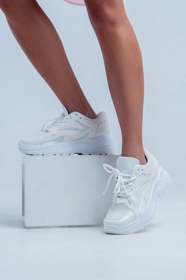 Baskets plateformes basses Blanc