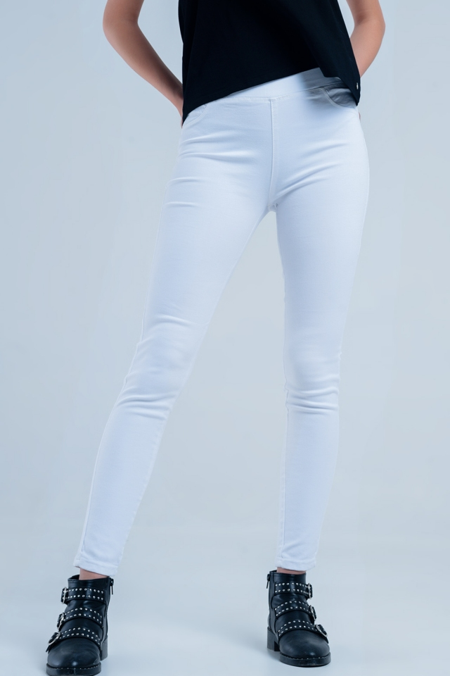 White Jeggins