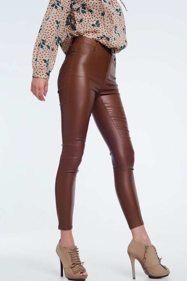 Pantalon Brown ajusté à taille haute