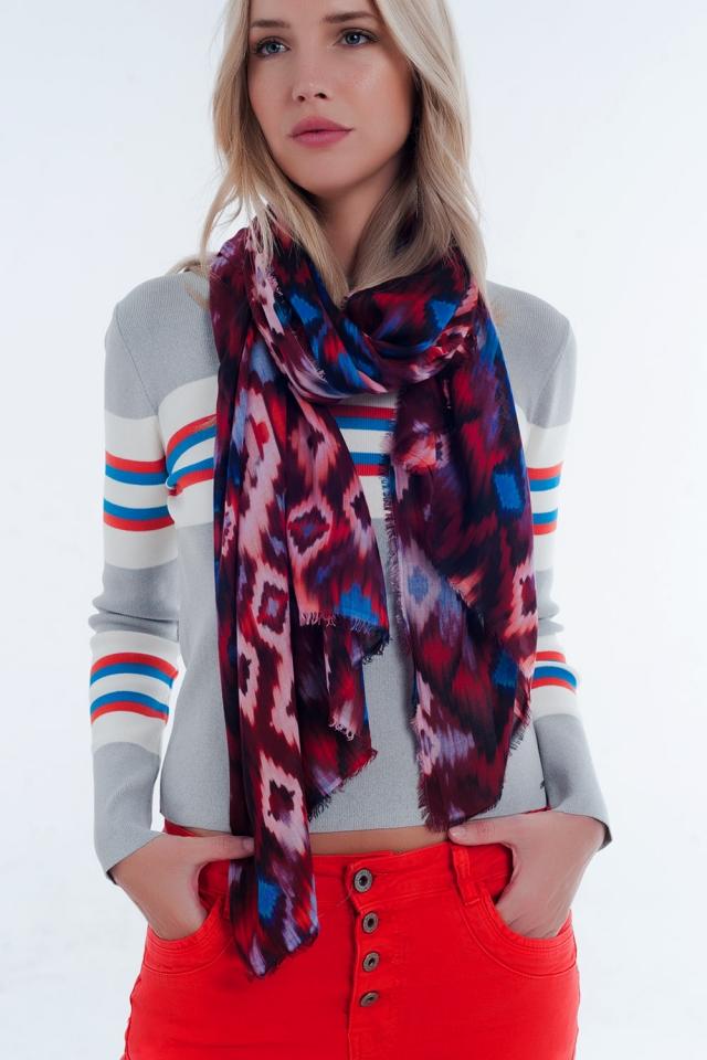 foulard Tie-Dye rouge