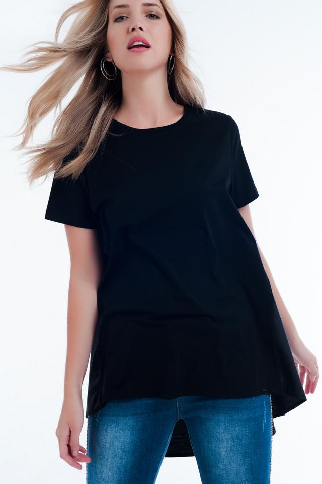 Robe t-shirt en noir