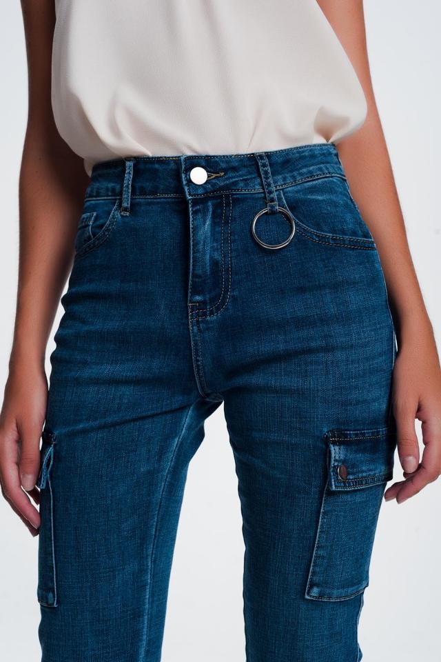 Jean skinny cargo