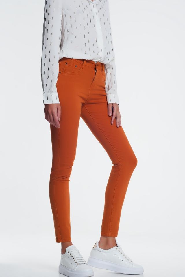 Jean skinny orange