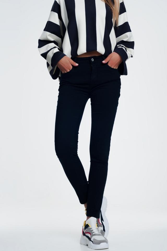 Jean skinny marine