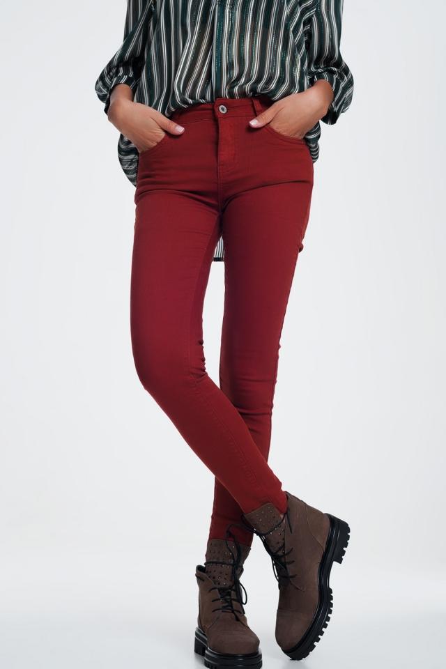 jean skinny bordeaux
