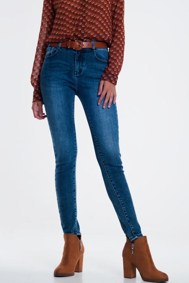 Jean skinny Délavage clair