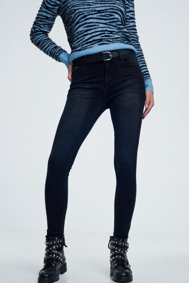 Jean noir skinny super doux