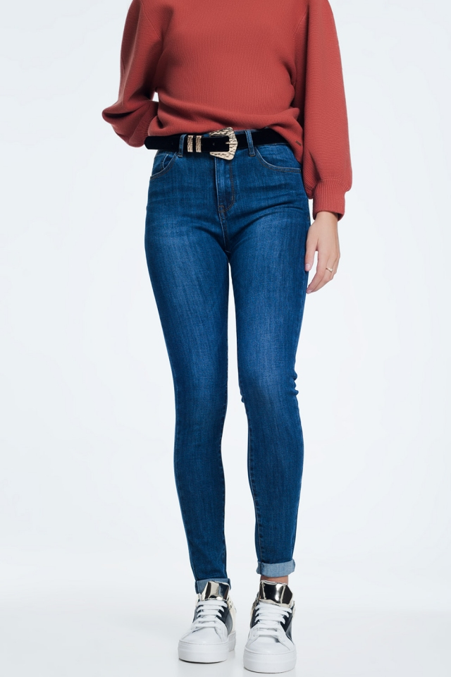 Push up jeans foncé