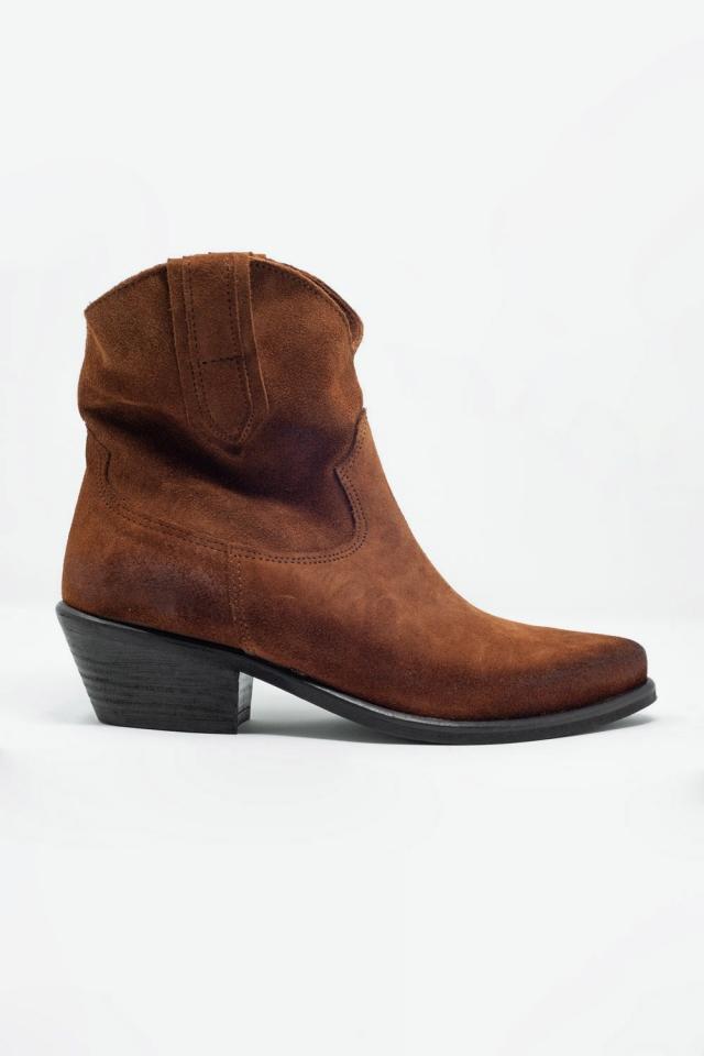 Bottes style western marron