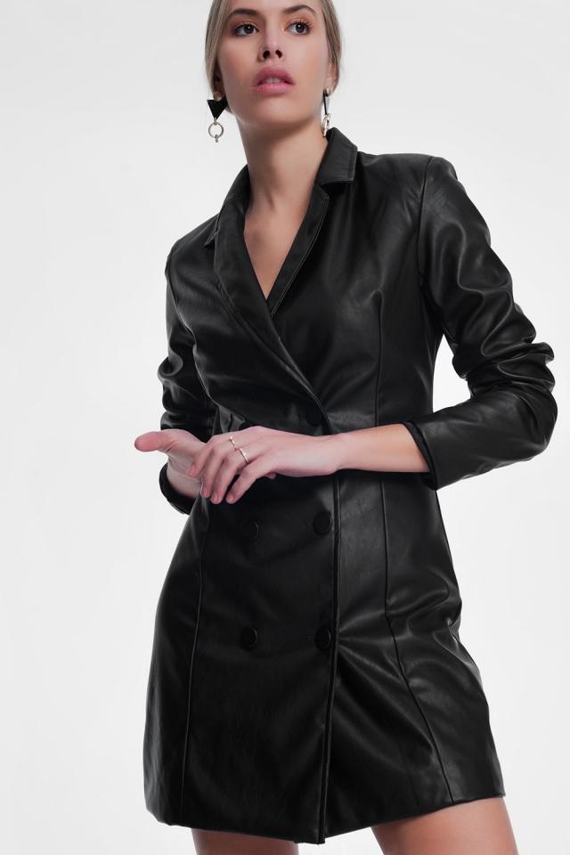 Robe smoking noire en polyuréthane