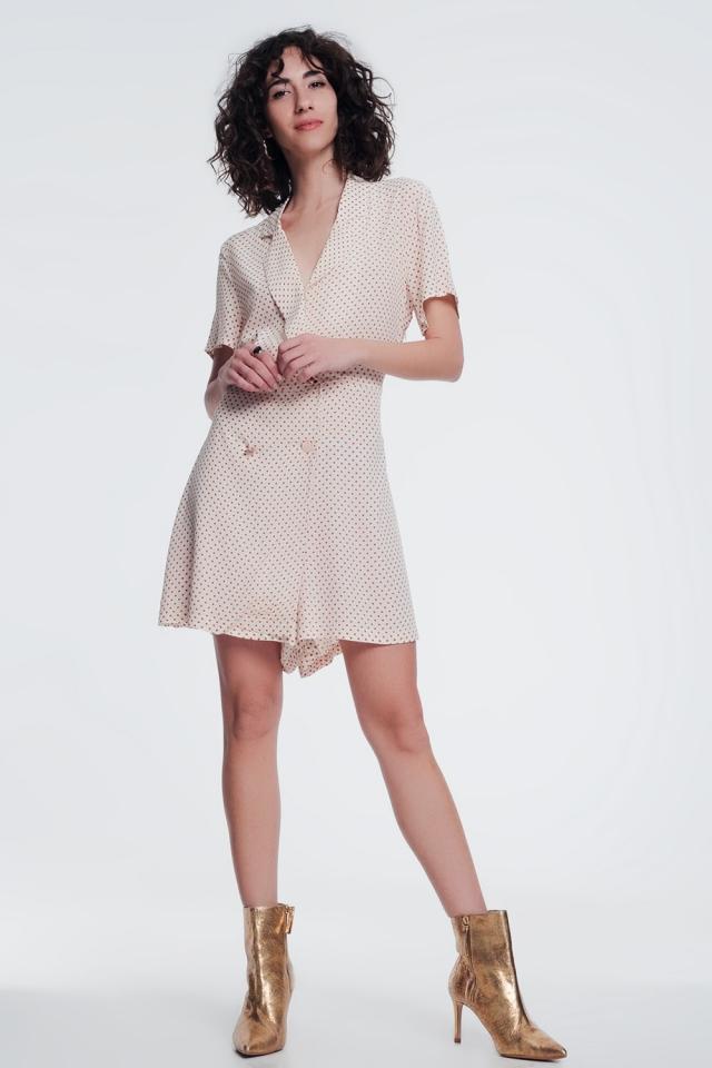 robe boutonnée sur le devant en beige