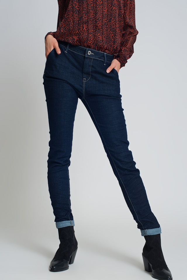 Jeans coupe fine style chinois