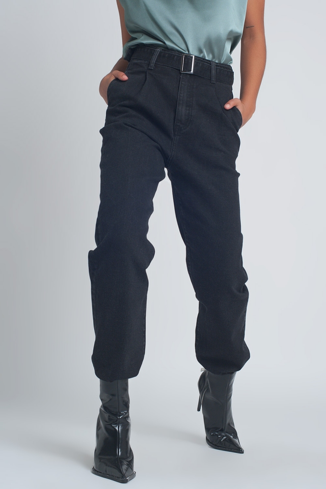 pantalon cargo negro