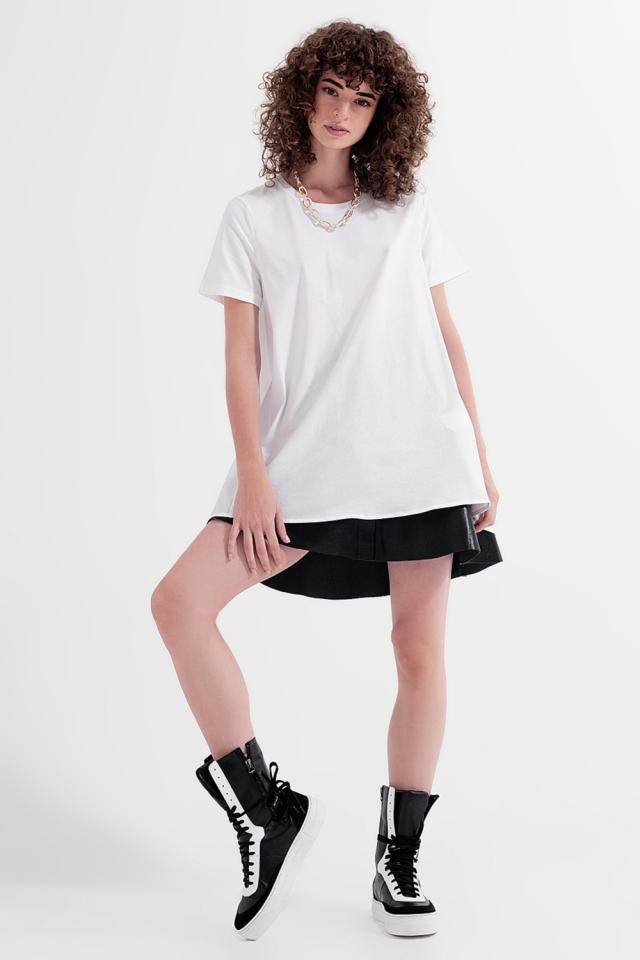 Robe t-shirt en blanc
