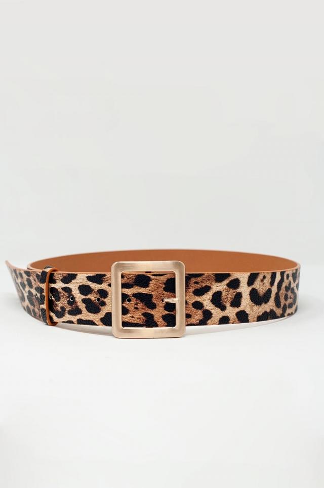 Ceinture à imprimé léopard
